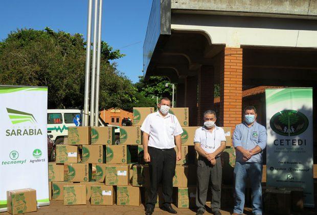 Empresas del Grupo Sarabia donaron 1.000 litros de alcohol en gel al Ministerio de Salud