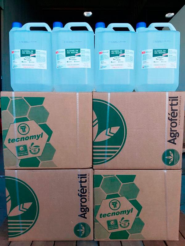 1.000 litros de alcohol en gel donados por el Grupo Sarabia