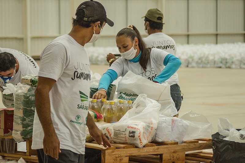 """Kits de alimentos de la campaña """"Juntos Sumamos"""""""