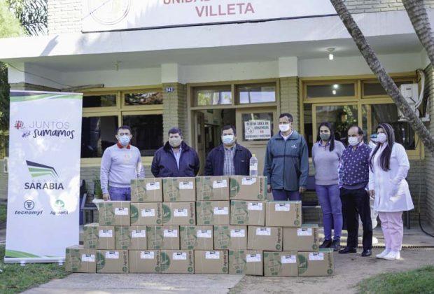 Grupo Sarabia contribuye con 1000 litros más de alcohol en gel a instituciones del Departamento Central