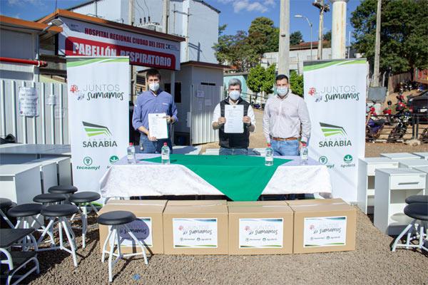 Grupo Sarabia aporta muebles y equipos para contingencia Covid-19