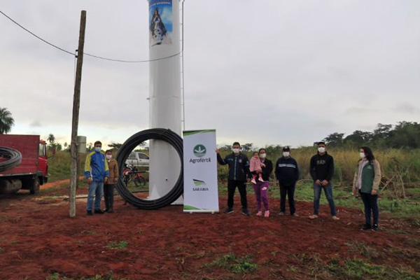 Agrofértil apoya a comunidad para acceder al agua potable